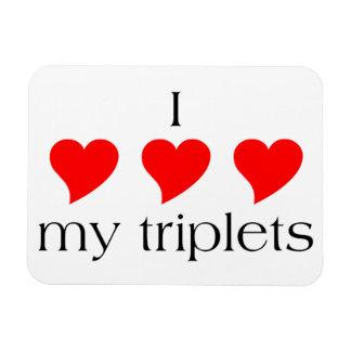 I Heart My Triplets Magnet