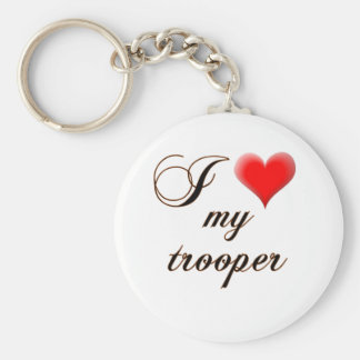 "I ""heart"" My Trooper Keychain"