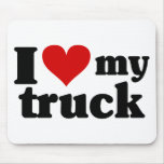 I Heart My Truck Mouse Pad