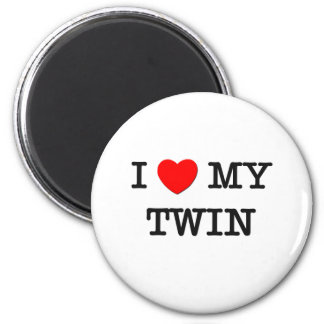 I Heart My TWIN Magnet