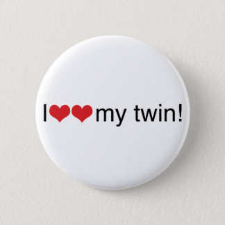 I Heart My Twin Pinback Button