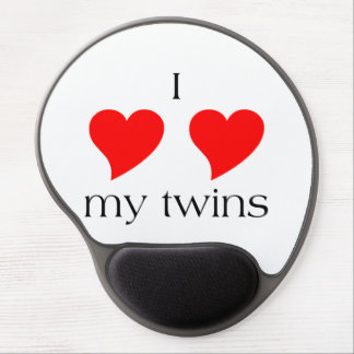 I Heart My Twins Gel Mouse Pad