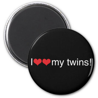 I Heart My Twins Magnet