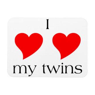 I Heart My Twins Magnet