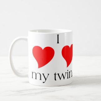 I Heart My Twins Classic White Coffee Mug