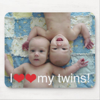 I Heart My Twins Photo Mousepad