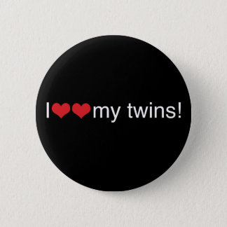 I Heart My Twins Pinback Button