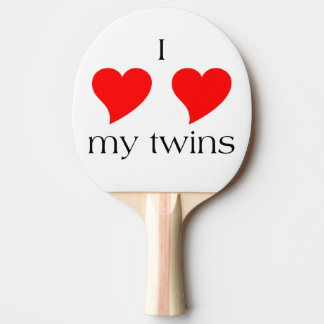 I Heart My Twins Ping Pong Paddle