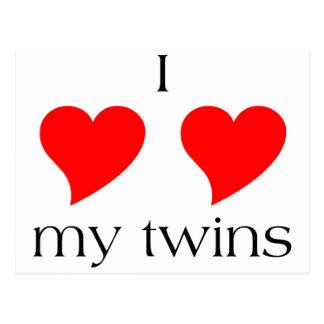I Heart My Twins Postcard