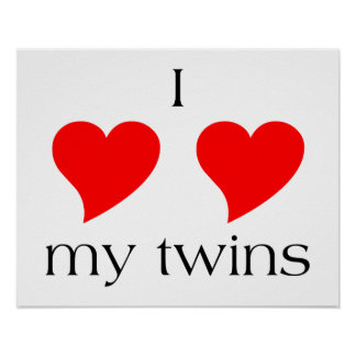 I Heart My Twins Poster