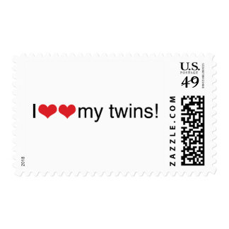 I Heart My Twins Stamp