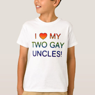 I (Heart) My Two Gay Uncles! t-shirt