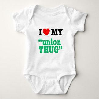 "I Heart My ""Union Thug"" Baby Bodysuit"