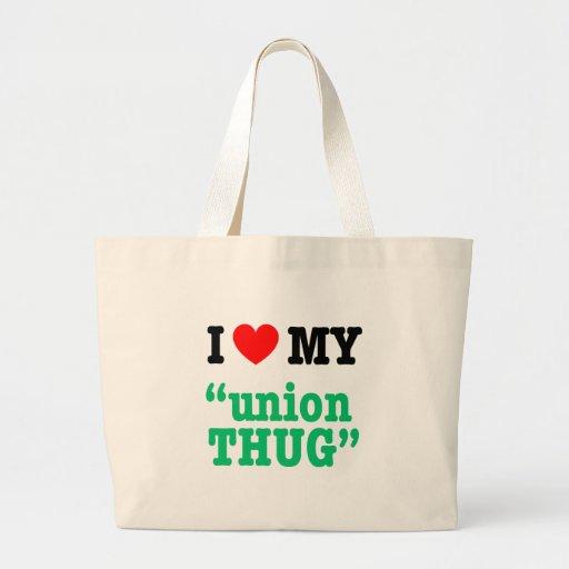 """I Heart My """"Union Thug"""" Canvas Bag"""