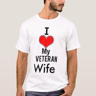 I Heart My Veteran Wife Shirt