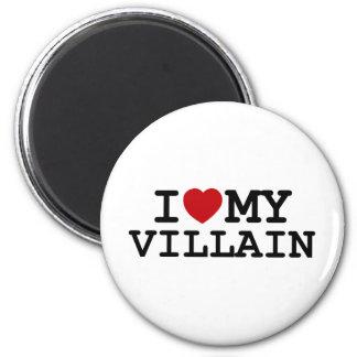 I Heart My Villain 2 Inch Round Magnet