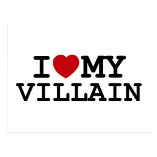 I Heart My Villain Postcard