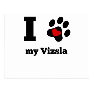 I Heart My Vizsla Postcard