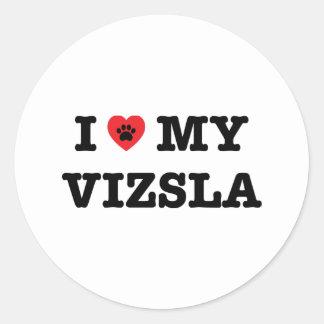 I Heart My Vizsla Sticker
