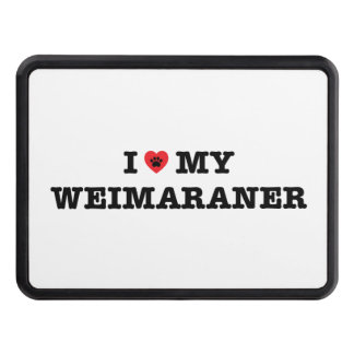 I Heart My Weimaraner Trailer Hitch Cover