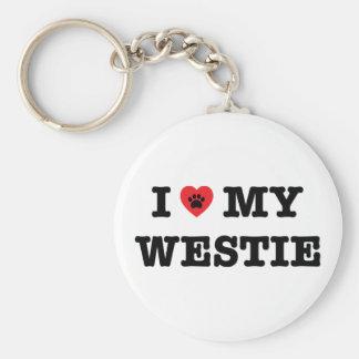 I Heart My Westie Keychain