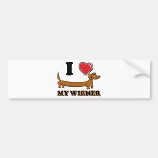 I Heart my Wiener Bumper Stickers