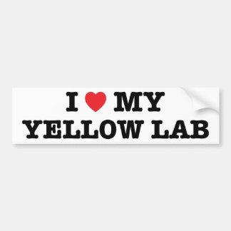 I Heart My Yellow Lab Bumper Sticker