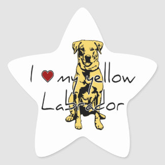 """I """"heart"""" my yellow Labrador with graphic Star Sticker"""