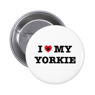 I Heart My Yorkie Button