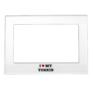 I Heart My Yorkie Magnetic Photo Frame