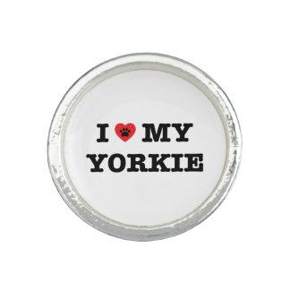 I Heart My Yorkie Ring