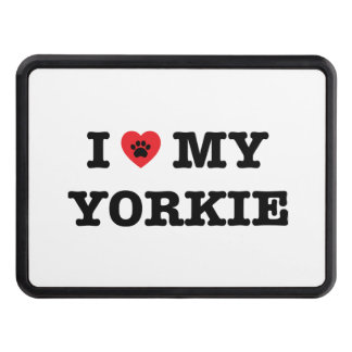 I Heart My Yorkie Trailer Hitch Cover