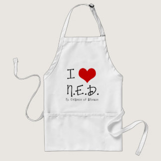 "I ""Heart"" N.E.D. - General Cancer Adult Apron"