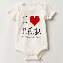 "I ""Heart"" N.E.D. - General Cancer Baby Bodysuit"