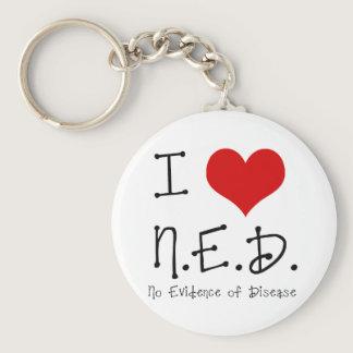 """I """"Heart"""" N.E.D. - General Cancer Keychain"""