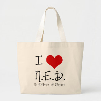 "I ""Heart"" N.E.D. - General Cancer Large Tote Bag"