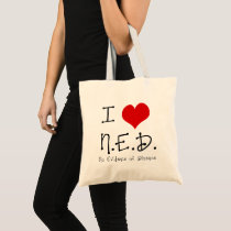 "I ""Heart"" N.E.D. - General Cancer Tote Bag"