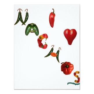 I Heart Nachos 4.25x5.5 Paper Invitation Card