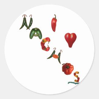 I Heart Nachos Round Stickers