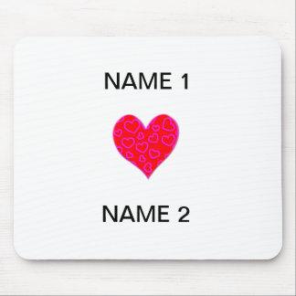 I Heart Name Mouse Pad