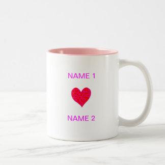 I Heart Name Two-Tone Coffee Mug