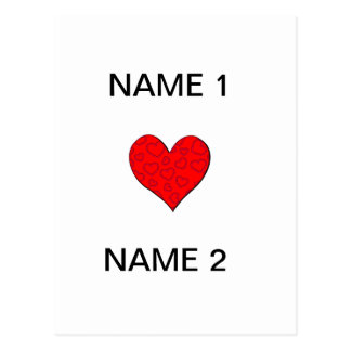 I Heart Name Post Cards