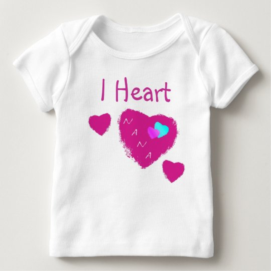 I Heart Nana Baby T Shirt