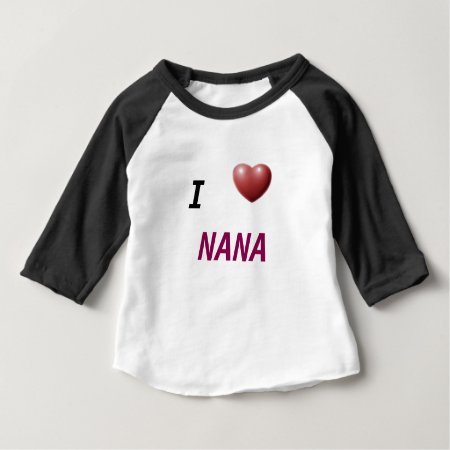 I Heart Nana  Kids Play Shirt