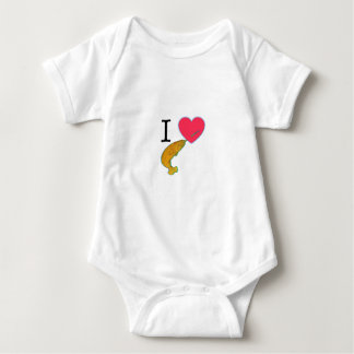 I HEART NARWHALS BABY BODYSUIT
