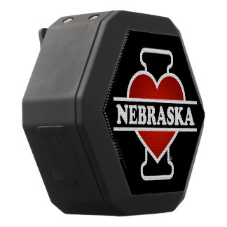 I Heart Nebraska Black Bluetooth Speaker