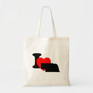 I Heart Nebraska Budget Tote Bag