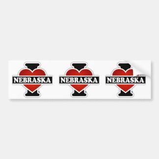 I Heart Nebraska Bumper Sticker