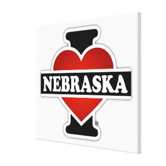 I Heart Nebraska Canvas Print