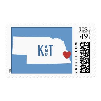 I Heart Nebraska - Customizable City Stamp